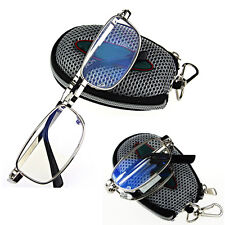 Hot Men Women Silver Folding Reading Glasses Eyeglasses Metal Frame Oval 2.5