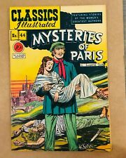 Classics Illustrated Mysteries of Paris 1st Printing HRN 44 I combine Shipping!