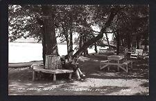 Detroit Lakes Minnesota MN c1939 RPPC  Tom Thumb Court, Lakeside Picnic Grounds