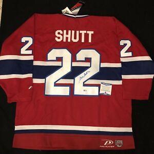 Steve Shutt Signed Montreal Canadiens Pro Player Jersey NWT Size XL Beckett COA