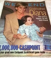 PRINCESS DIANA AS GODFMOTHER - Cover & Photo Feature in  UK WEEKEND Magazine