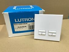 Lutron RANIA Keypad RDDU-252B-FAW-M White Faceplate Switch