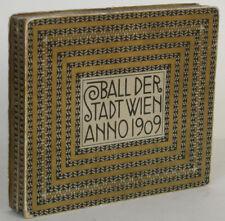 Ballspende Wien 1909 Gedenktage aus dem Jahr 1809 Lithos von Rem. Geyling Leder