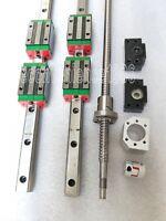 HGR20-300mm Hiwin Linear rail & HGH20CA &RM1605-300mm Ballscrew&BF12/BK12 Kit