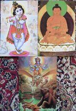 Hindu Postcard Set (Set No.27) BUDDHA - KRISHNA - VISHNU