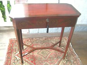 Vintage Bombay Console Hallway Table  embellished with drawer & key 064