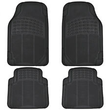 All Season Rubber Floor Mats for Car SUV Van Heavy Duty 4 PC Set Black Trimmable