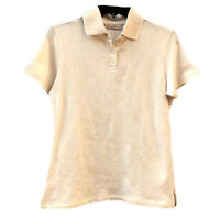 NWT Tommy Bahama Women's Polo Shirt Hibiscus Floral Textured Cream Retail 80.00