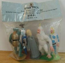 5 Star Trek 1991 Figures by Hamilton, Tellarite,Gorn,Andorian,Talosian,Mugatu