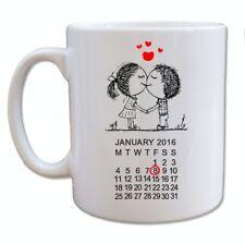 Sweethearts Mug - Personalised Date - Valentines Day Anniversary Gift Love