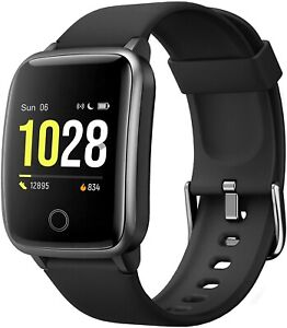 Curved Screen Smart Watch for Android iOS Phones, Waterproof Fitness Tracker