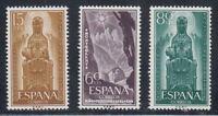 ESPAÑA (1956) MNH NUEVO SIN FIJASELLOS - EDIFIL 1192/94 AÑO JUBILAR MONTSERRAT