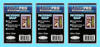 3 ULTRA PRO RECESSED SNAP STANDARD SIZE Trading Card Holder Sports Plastic Case