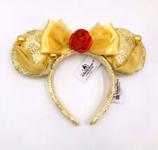 Disney Park Belle Minnie Mouse Ears Bow Mickey Cos Beauty and the Beast Headband