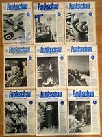 23x Funkschau 1953 Funktechnik Zeitschrift Hefte alt Franzis Radio TV Kamera