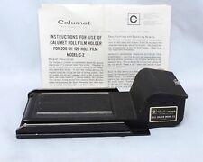 Calumet Roll Film Holder Model C2 Medium Format Large Format film cameras
