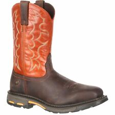 """Ariat 10006961 Workhog Red Safety Toe 11"""" Pull On EH Rated Work Boots E  7.5"""