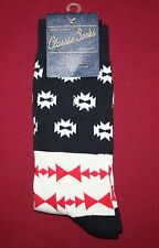 AMERICAN EAGLE OUTFITTERS MEN'S ONE SIZE QUALITY CLASSIC SOCKS BLACK/RED DESIGN