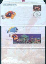 1996 MALAYA MALAYSIA MARINE LIFE AIR LETTER SHEET FIRST DAY CANC. CRAB, FISH