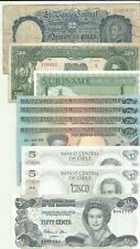 AMERICA LOT 10 NOTES. SURINAME-CHILE-BAHAMAS-ARGENTINA. 9RW 21ABRIL