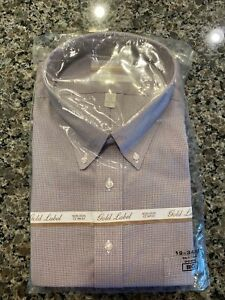 GOLD LABEL ROUNDTREE & YORKE NON-IRON MEN'S 19 - 34/35 Dress SHIRT