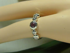 $995 IPPOLITA Silver Rain Amethyst and Diamond Ring in Sterling Silver.