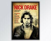 NICK DRAKE REIMAGINED 1970 UK Concert Tour Poster A3 size.