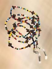 NEW Multi Coloured & Brown Stone Eye Glasses Chain Reading Strap Holder