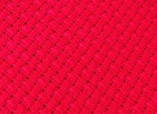 Red 3.5 count Turkestan Binca  Aida 100 x 70 cm Zweigart - great for cushions