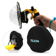 TELESIN Soft Dome Port Protect Cover Hood Bag for GoPro 4 5 Sjcam Action Camera