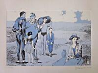 MILO MANARA La famiglia di SALTIMBANCHI acquaforte Picasso Suite Saltimbanques