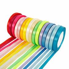 16 Pcs 25 Yards Silk Satin Ribbon Wedding Party Wrap Decor Full Roll 22-23M