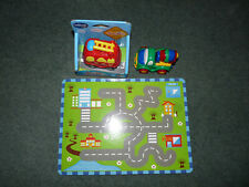 VTECH Baby fire engine (new) with batteries, JACKPOT cement mixer and board