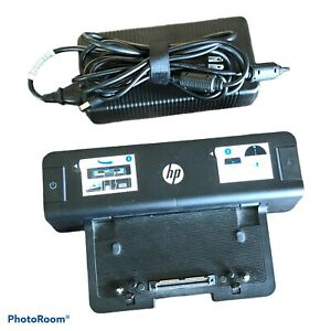 HP Docking Station HSTNN-I11X With Power Adaptor HP 535592-001 Cord Black Works