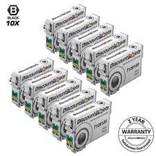 10pk Reman for Epson T126 Black Ink Cartridge High Yield 126120 645 630 633 845