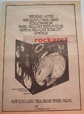 TEN YEARS AFTER Rock n' Roll Music 1972  UK Poster size Press ADVERT 16x12""