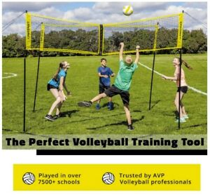 NEW -- CROSSNET Four Square Volleyball Net and Game Set