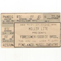 FOREIGNER & DOOBIE BROTHERS Concert Ticket Stub CLARKSTON 8/16/94 PINE KNOB Rare