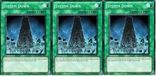 *** 3X SYSTEM DOWN 3X *** MIXED SETS RYMP, CRV, DR04 PLAYSET! MINT/NM YUGIOH!
