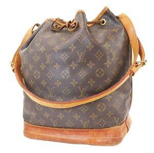 Authentic LOUIS VUITTON Noe Monogram Shoulder Tote Bag Purse #39998