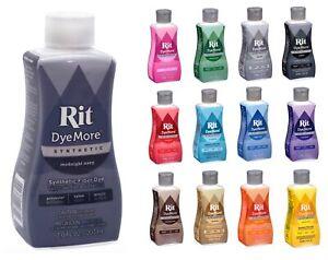 Rit DyeMore Advanced Liquid Dye Synthetic Polyester Nylon Acrylic Clothing 207ml