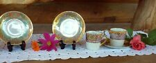 Antique China 1900-40 Japanese Demitasse lusterware Cups & Saucers Hand Painted