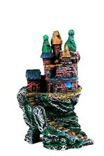 Aquarium Fish Tank Raised Castle Ruin on Rocks Ornament YM576 Decorations 26cm