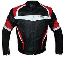 Biker moto chaqueta cazadora moto de cuero rojo  2XL 3XL 4XL 54 56 58