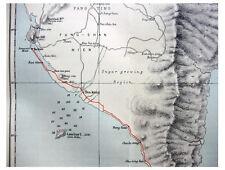 1885 Beazeley - LITTLE-KNOWN FORMOSA - Takow - SOUTH CAPE - Colour Map - 1