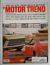 MOTOR TREND MAGAZINE 1967 SEPTEMBER CUDA 383 BMW 1600 GTO LE MANS VOLVO 144S