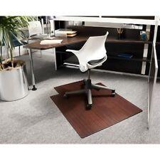 "Anji 36"" x 48"" DARK CHERRY Bamboo Roll-Up Chair Mat"