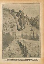Poilus Tranchée Périscope Boyau Bataille de Champagne War WWI 1915 ILLUSTRATION