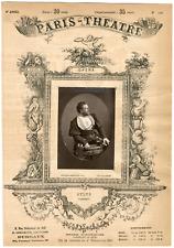 Lemercier et Cie, Paris-Théâtre, M. Sylva, chanteur Vintage Albumen Print Tira