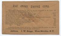 1850s #26 allover reverse ad cover Rural Empire club [3899]